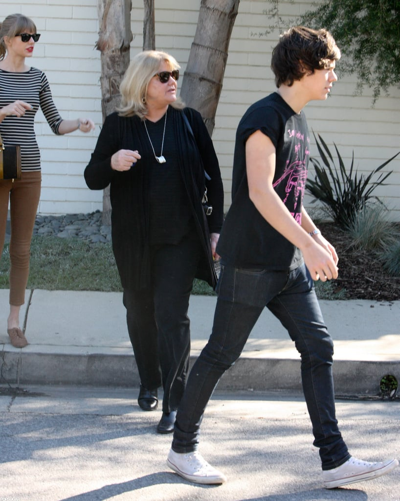 Harry Styles walked to his car.