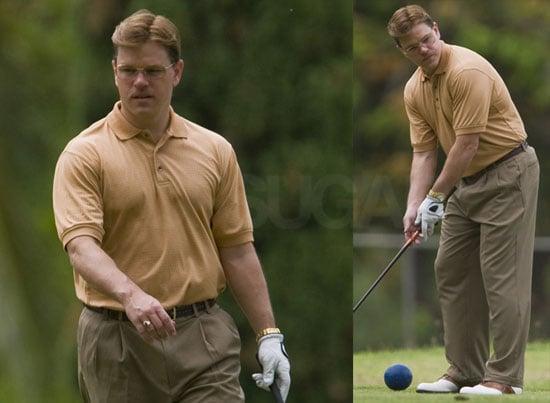 Photos of Matt Damon On The Set Of The Informant