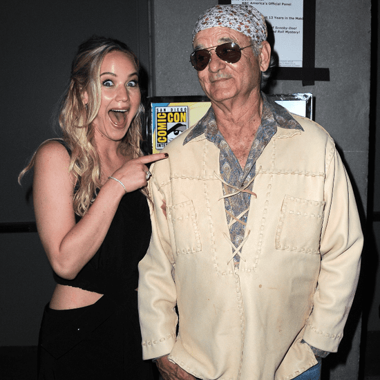 Jennifer Lawrence and Bill Murray at Comic-Con
