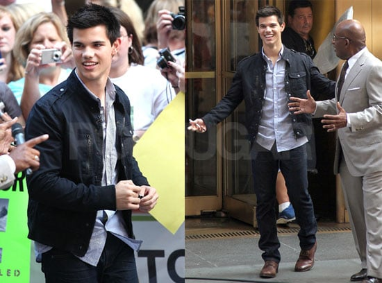Pictures of Taylor Lautner Promoting Eclipse on The Today Show