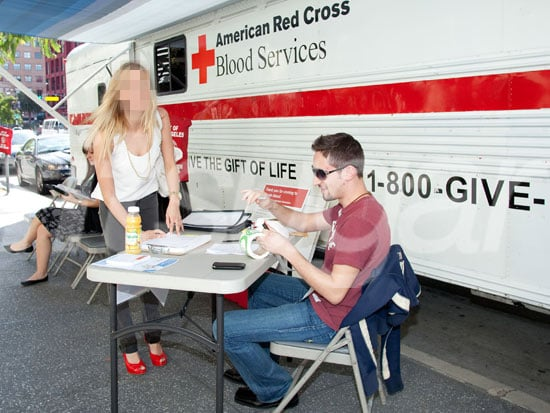 Photos of a Celebrity Donating Blood