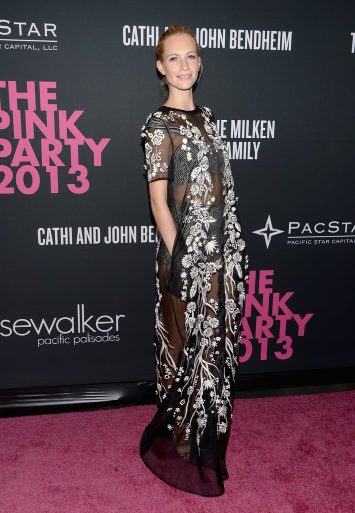 Model Poppy Delevingne attended Elyse Walker's Pink Party.