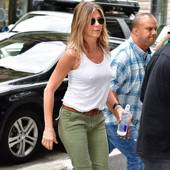 Jennifer Aniston's Burberry Wedges in New York June 2016