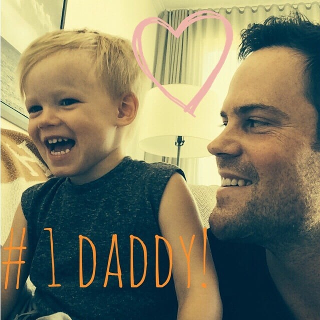 """Hilary Duff couldn't help but share this supersweet picture of Luca and Mike Comrie, writing, """"Happy daddy's day Mikey!!!"""" Source: Instagram user hilaryduff"""