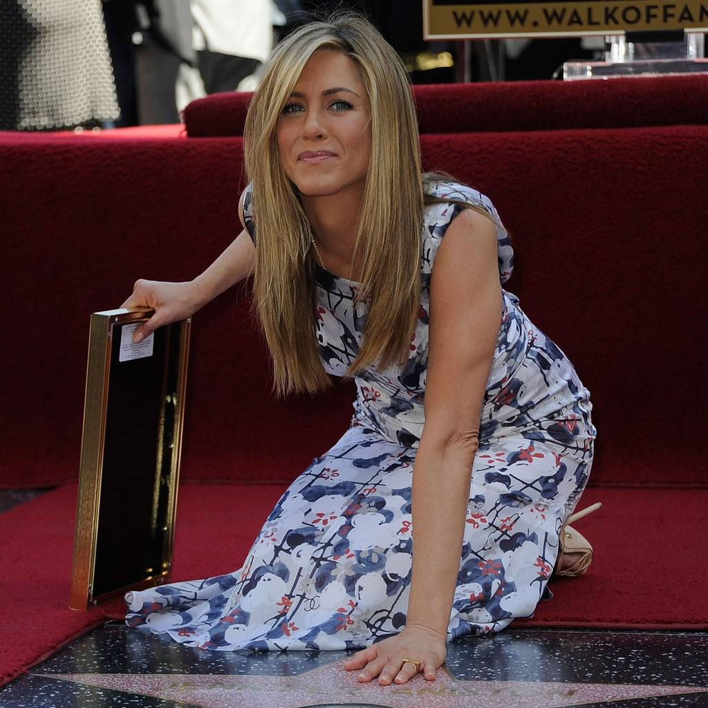 Jennifer Aniston Star on Hollywood Walk of Fame Pictures With Justin Theroux