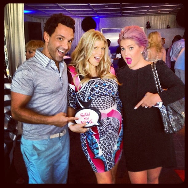 George Kotsiopoulos and Kelly Osbourne posed with the mum-to-be, Fergie. Source: Instagram user georgekotsi