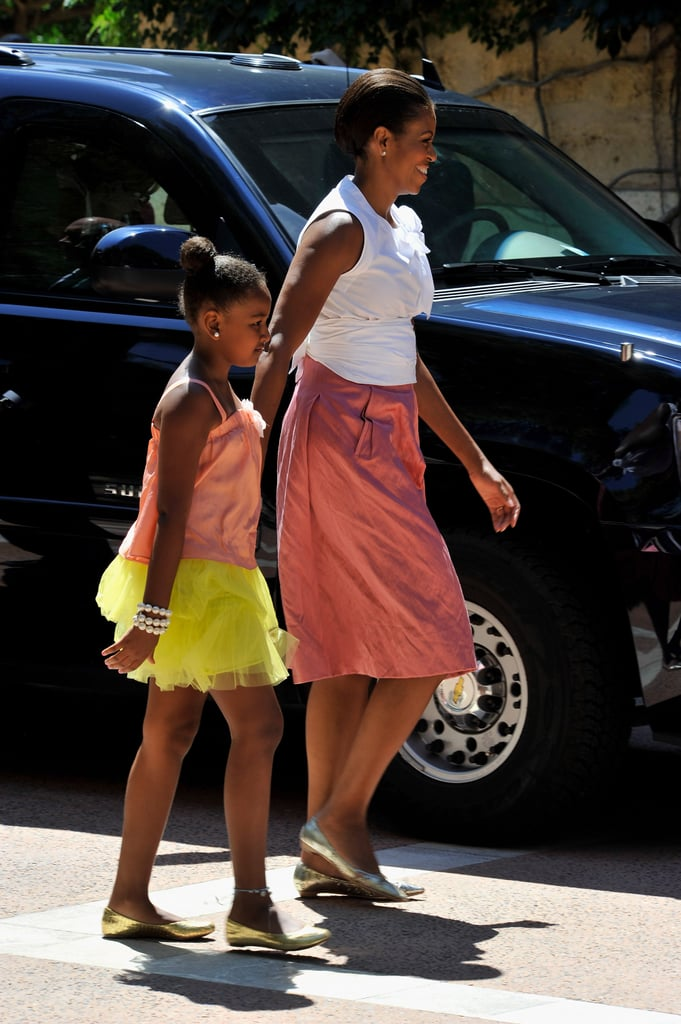 When She Coordinated With Her Mom While Rocking a Poufy Skirt