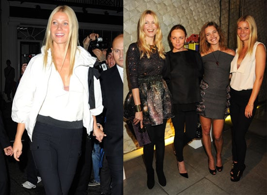 Pictures of Gwyneth Paltrow, Thandie Newton, Stella McCartney, and Claudia Schiffer, Celebrating Fashion's Night Out in London