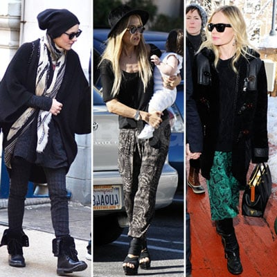 Celebrities Wearing Colorful Pants 2012