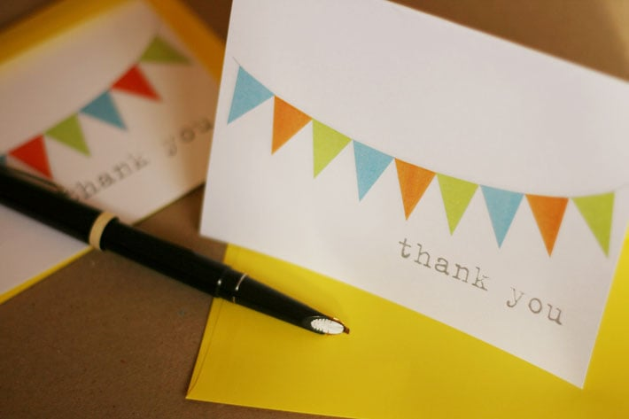 Banner Thank You Card
