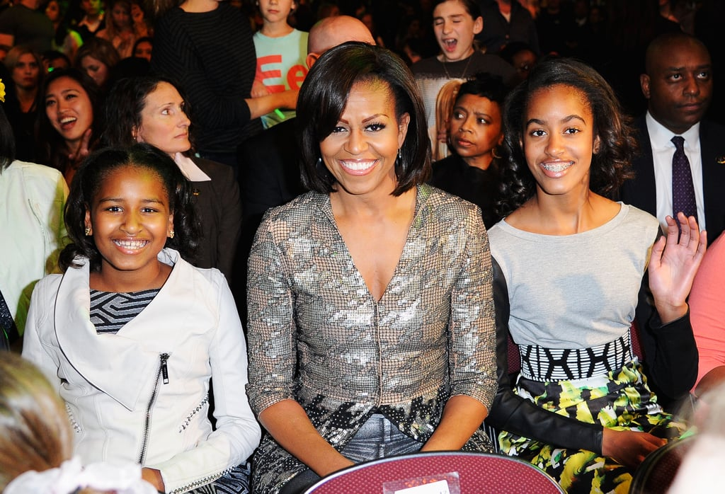 In 2012, Michelle and the girls enjoyed at night out at the Nickelodeon Kids' Choice Awards.