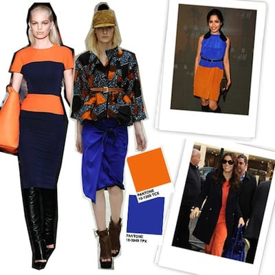 Orange and Blue Colorblock Combos Spring 2012