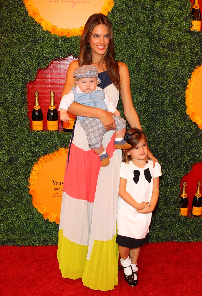Alessandra Ambrosio dressed up her little ones, Anja and Noah, to attend the Veuve Clicquot Polo Classic in LA.