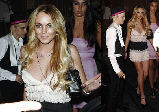 Photos of Lindsay Lohan At Her 22nd Birthday Party at Teddy's
