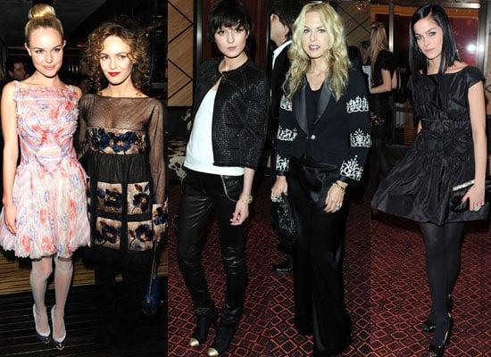 Photos of Kate Bosworth, Vanessa Paradis, Leigh Lezark, Patti Smith, Rachel Zoe and Irina Lazareanu at Chanel Rouge Dinner in NY