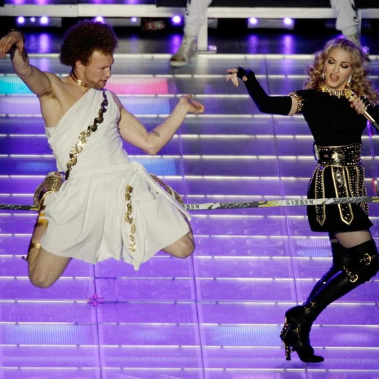 Guy on Tightrope During Madonna's Super Bowl Halftime Show