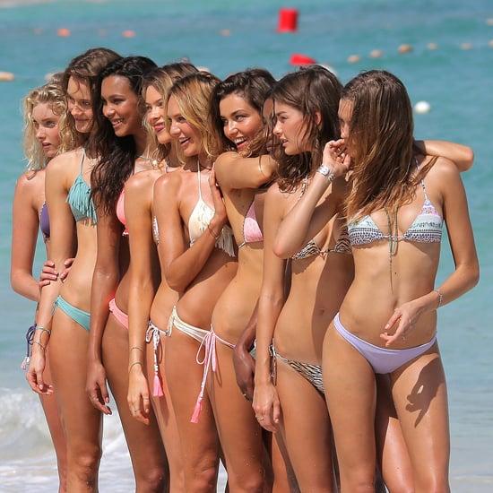 Victoria's Secret Group Bikini Beach Photo Shoot