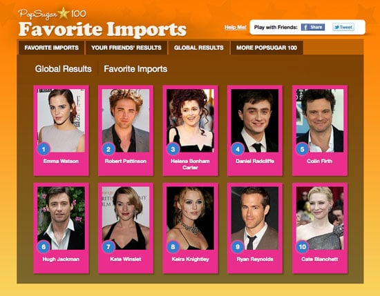 Who Are Your Top 10 Favorite Celebrity Imports in the PopSugar 100