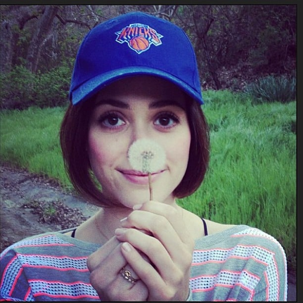 Emmy Rossum made a wish on a dandelion. Source: Instagram user emmyrossum
