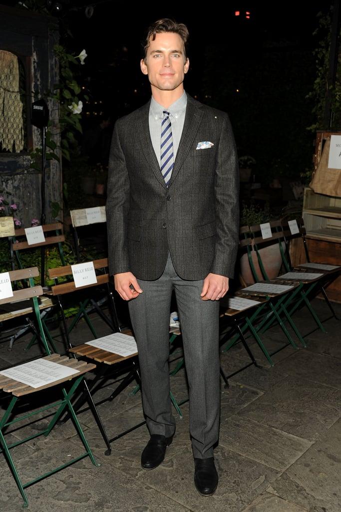 Matt Bomer cut a dapper figure at Friday night's Billy Reid runway show.