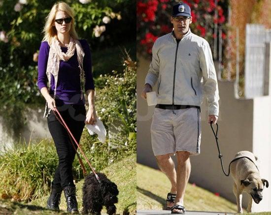 Photos of January Jones and Jon Hamm Walking Their Dogs in LA