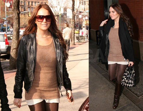 Lindsay by Day and Lindsay by Night in NYC