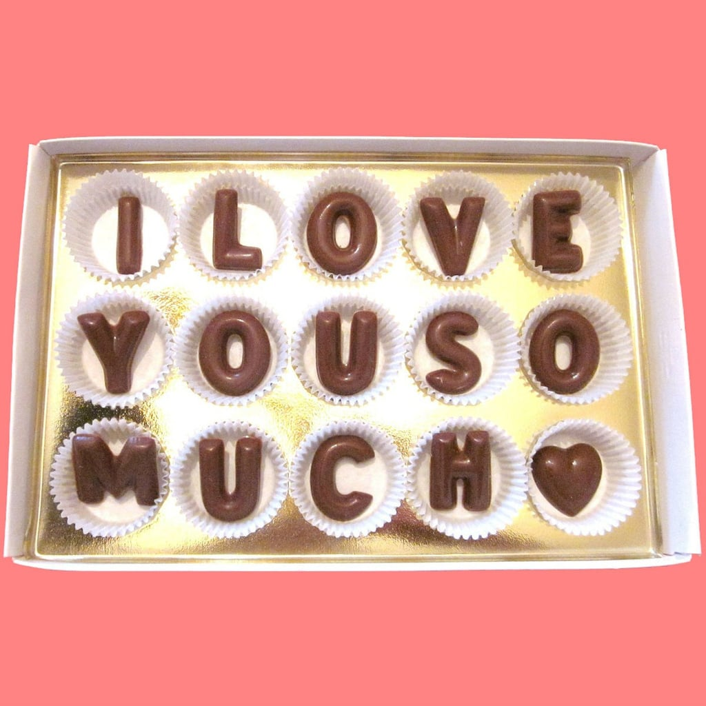 I Love You Chocolate Letters