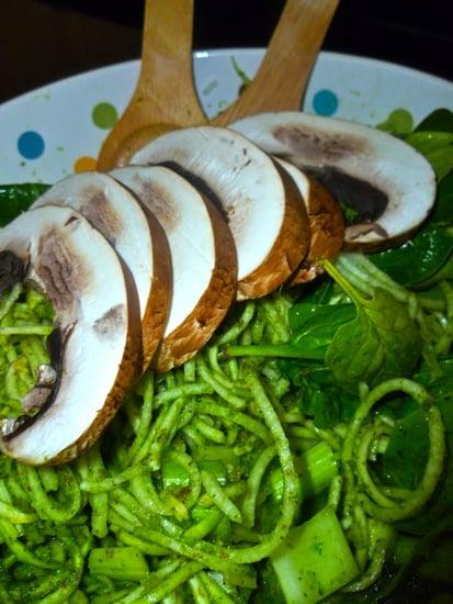 Raw Vegan Pesto Pasta