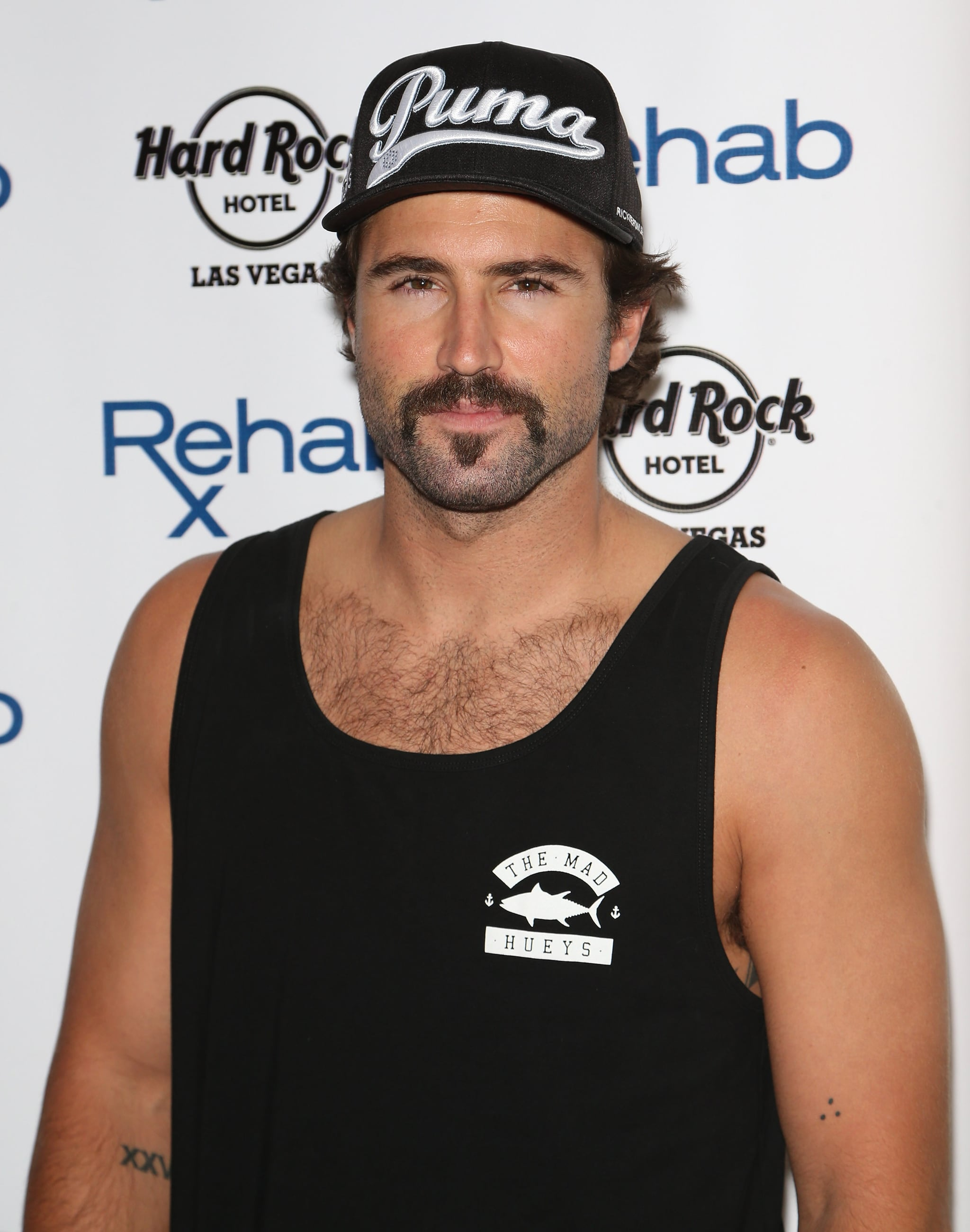 Brody Jenner sported a mustache and scruff at the Hard Rock Hotel and Casino's Rehab pool party on Saturday.
