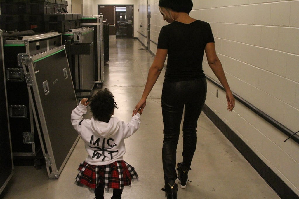 She balances work and motherhood.