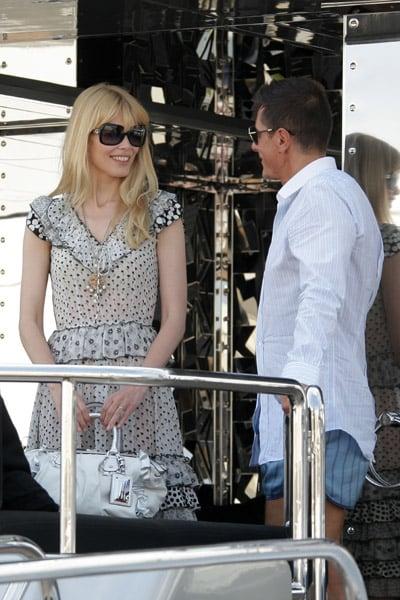 May 22: Claudia Schiffer and Stefano Gabbana on his yacht, Regina D'Italia