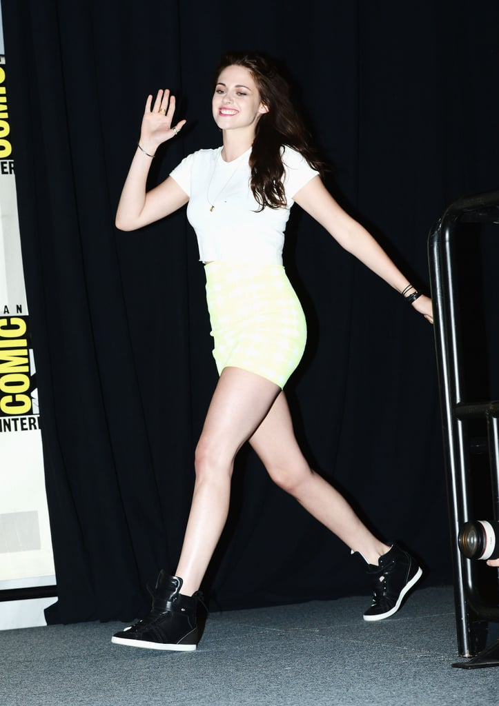 Kristen looked cool and comfy.