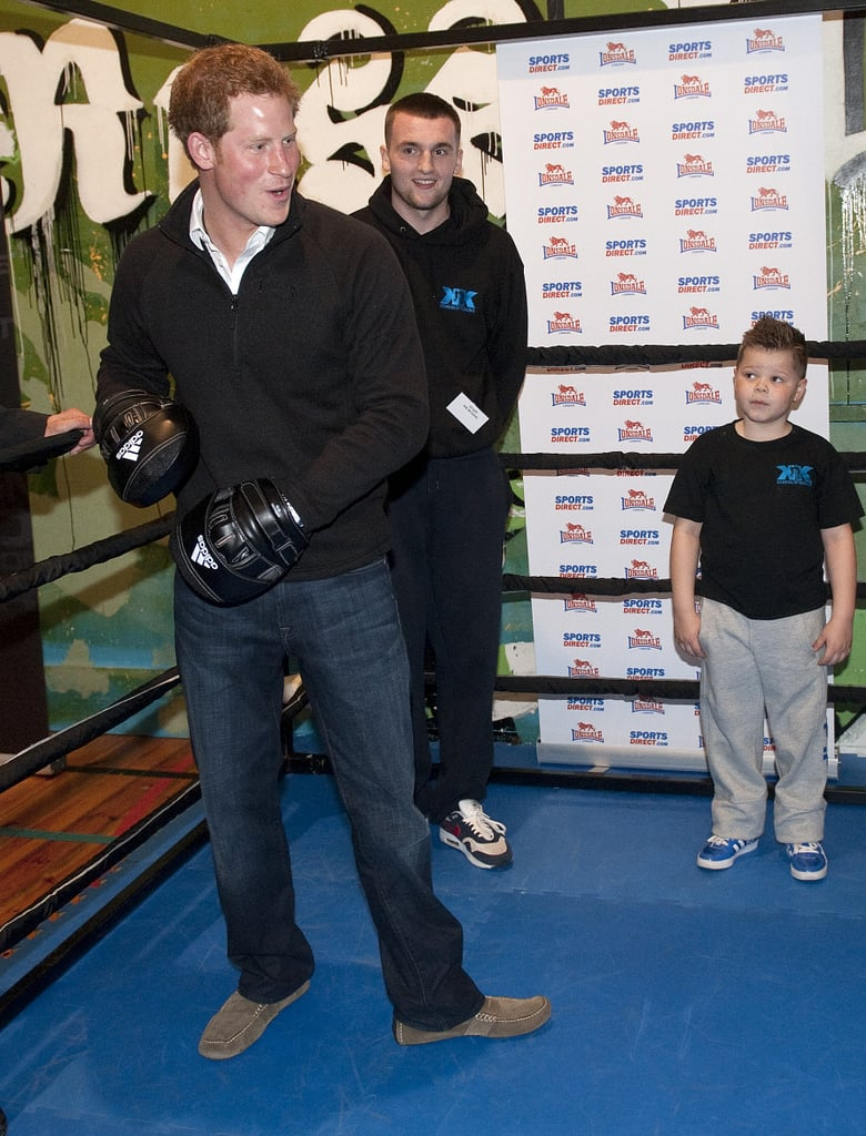 Prince Harry stopped by the KK Boxing Club in Nottingham, England.