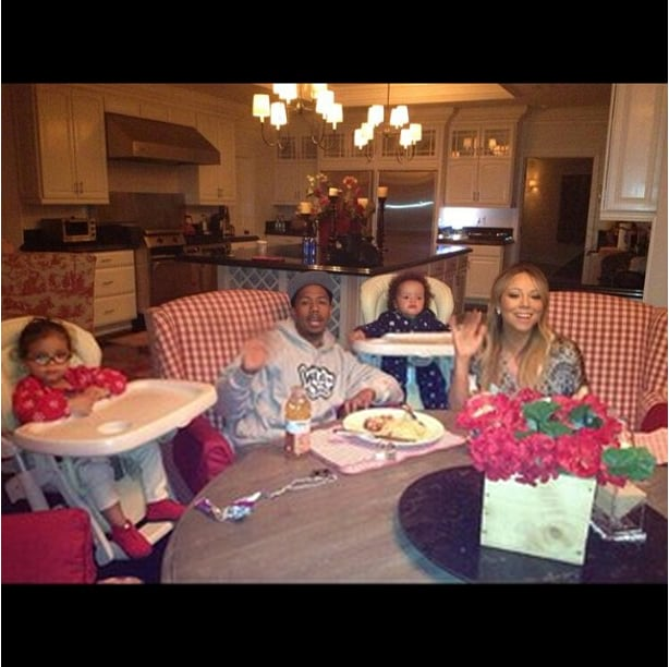 It was a family dinner celebration for Nick Cannon, who was surrounded by Monroe, Moroccan, and Mariah Carey on Father's Day. Source: Instagram user mariahcarey