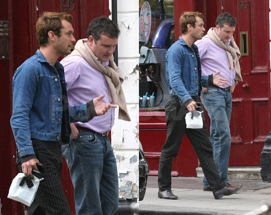 Jude Law Spiffs Himself Up For Afternoon Walk