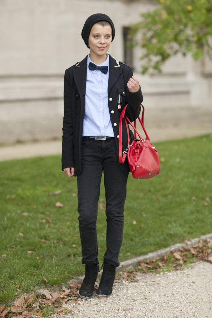 Bow-tied with a military-inspired twist.