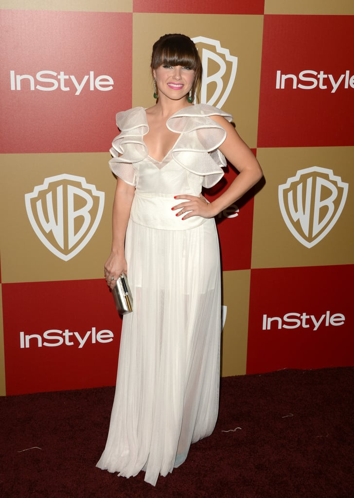 Sophia Bush chose a white ruffled Lisa Ho confection to the InStyle party.
