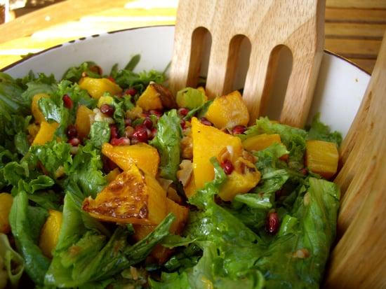 Fall Into Salads: Butternut Squash, Pomegranate, and Walnuts