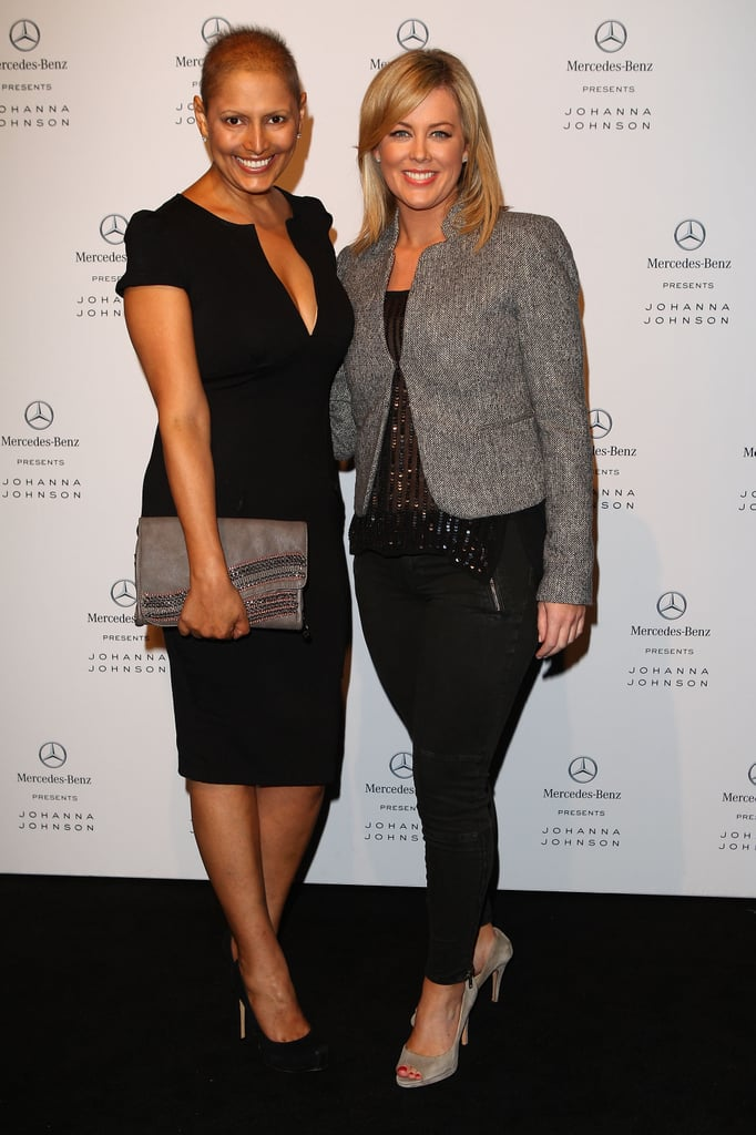 Sally Obermeder and Samantha Armytage at Johanna Johnston