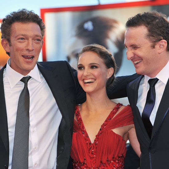 Natalie Portman and her Black Swan costar Vincent Cassel shared a laugh with director Darren Aronofsky at the premiere of the thriller in Venice in 2010.