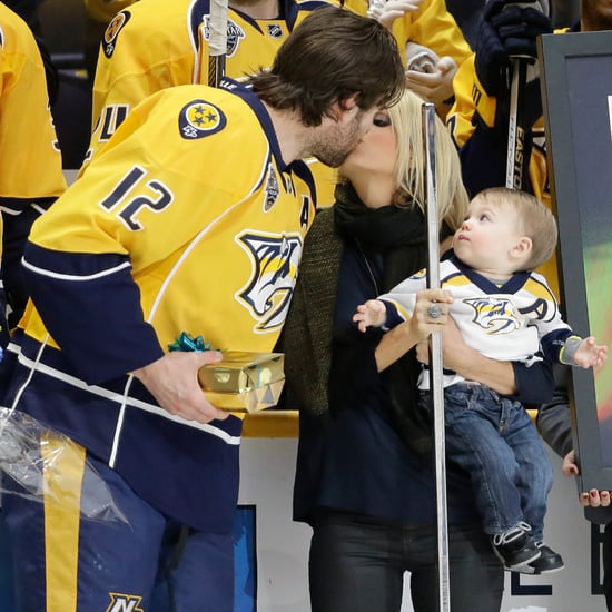 Carrie Underwood and Mike Fisher Kiss March 2016