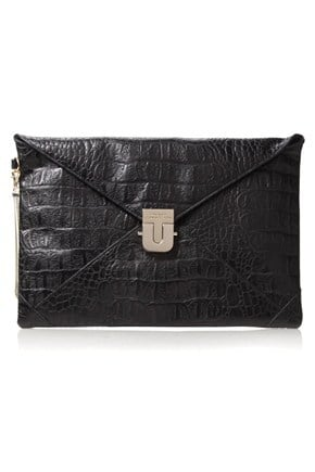 SNEAKY CROC CLUTCH - New Arrivals - French Connection Usa