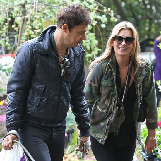 Kate Moss and Jamie Hince Walk Dog in London