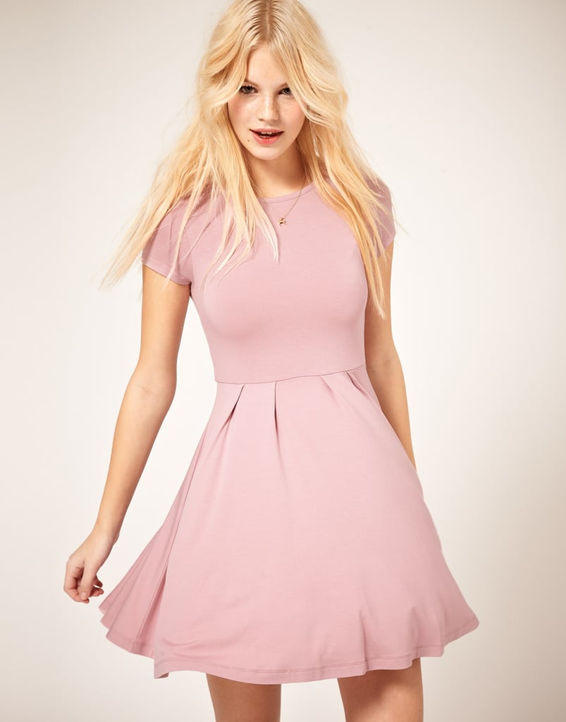 This is the perfect way to experiment with the trend in small doses. The feminine fit is spot on and always a flattering option.  Asos Cap Sleeve Skater Dress ($36)