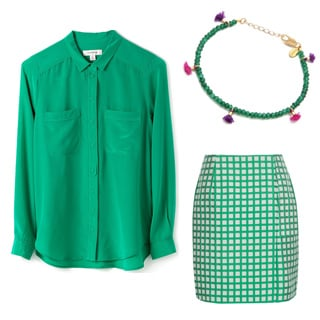 Fashion Trends: Emerald Green Shirts, Bags, Shoes, Skirts