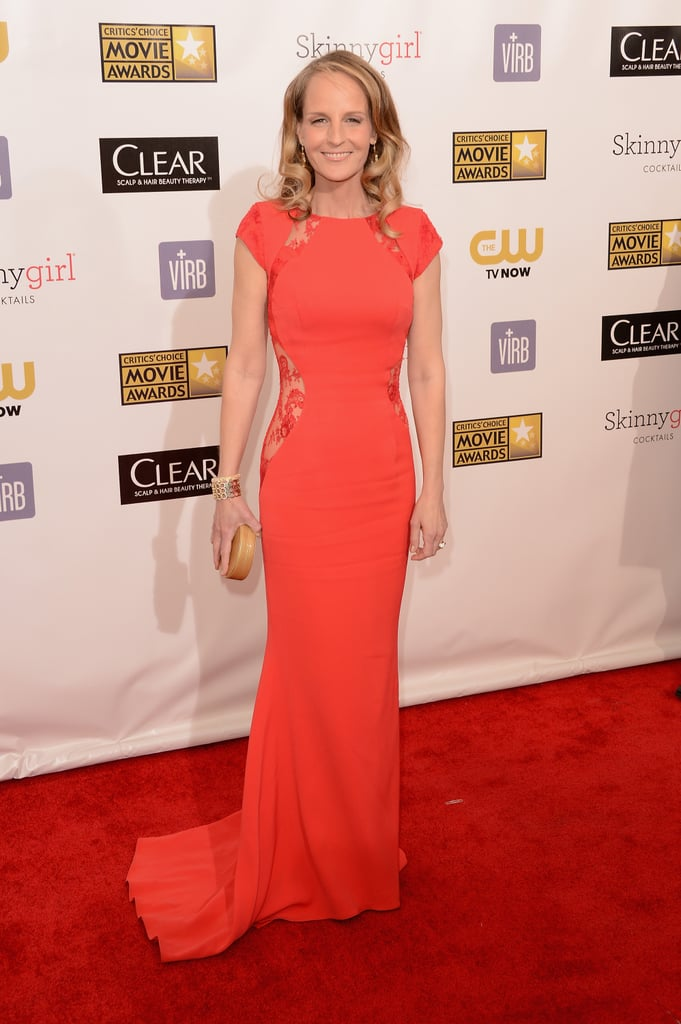 Helent Hunt wore a bright gown to the Critics' Choice Awards.
