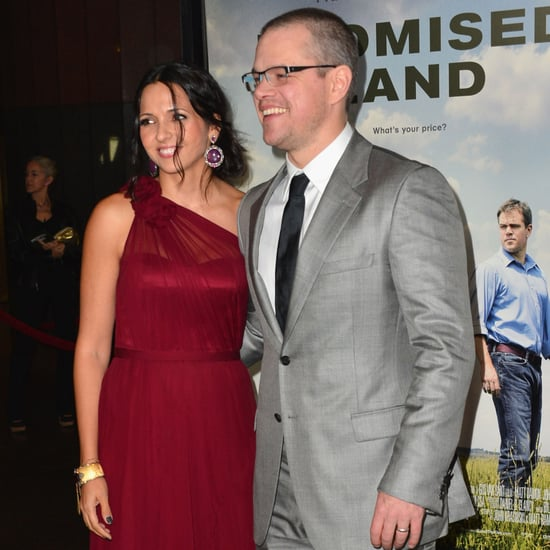 Matt and Luciana Damon at the LA Premiere of Promised Land