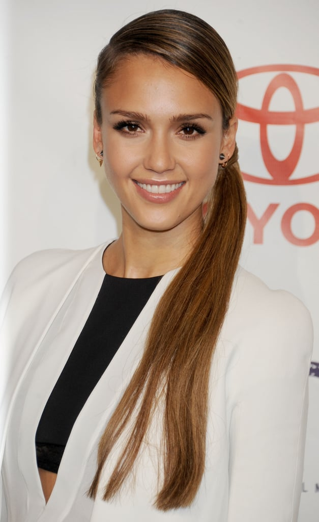At the 2012 Environmental Media Awards, the eco-conscious actress wore a side-swept ponytail that combined a chic braid and added length.