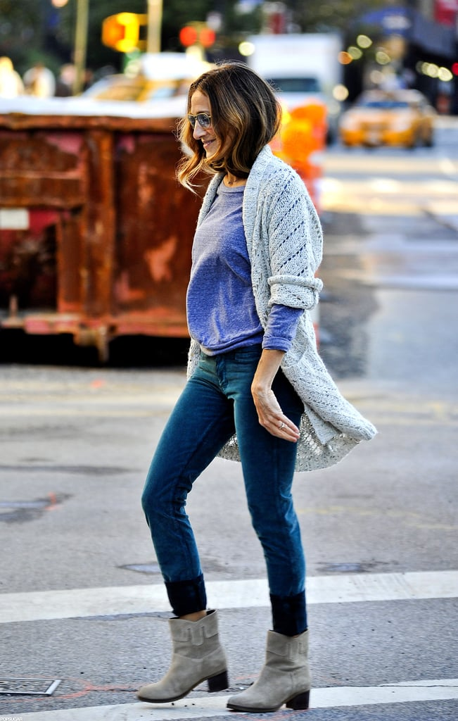 Sarah Jessica Parker was bundled up on the street in NYC.