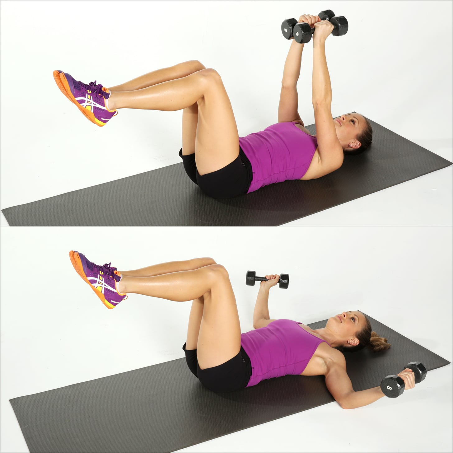 Lying chest fly 12 dumbbell exercises for strong for Floor workout